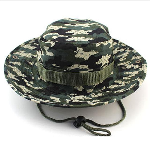 7f3dea500d1de New Bucket Hat Outdoor Canvas Cap Military Fishing Wide Brim Boonie Hunting  Camo