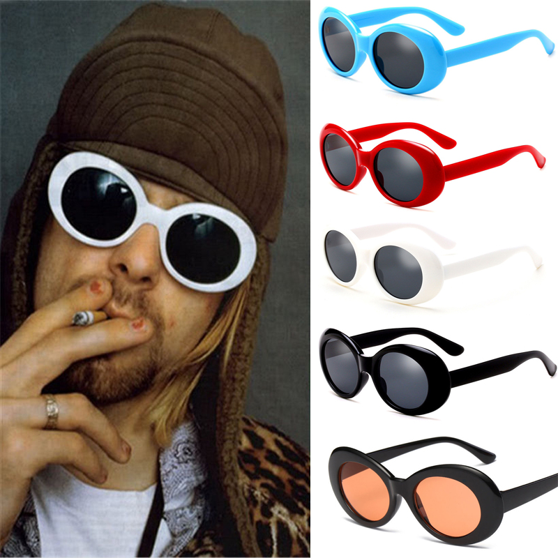 Vintage Nirvana Kurt Cobain Round Sunglasses For Women Men Mirrored Eyewear New
