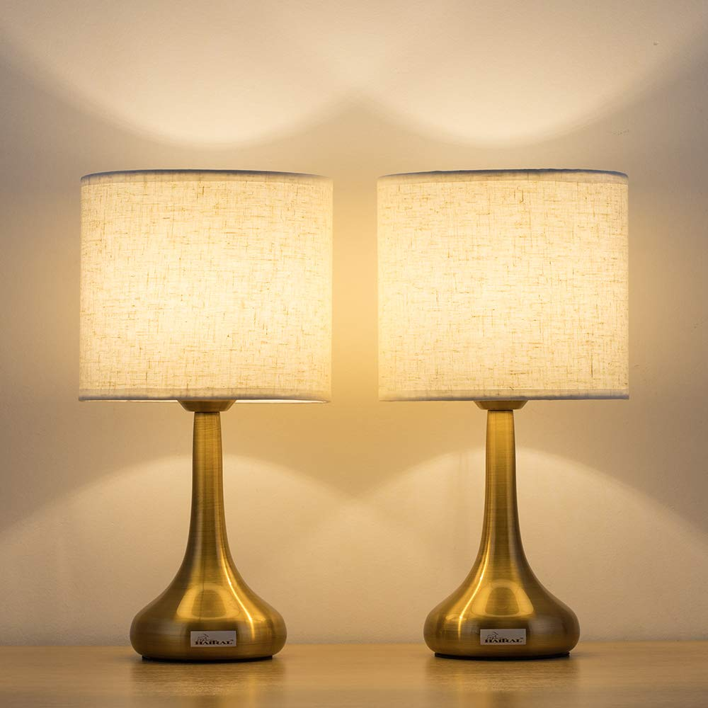 Details about Modern Mini Table Desk Lamp Bedroom Office Dorm Beside  Nightstand Light Set of 2