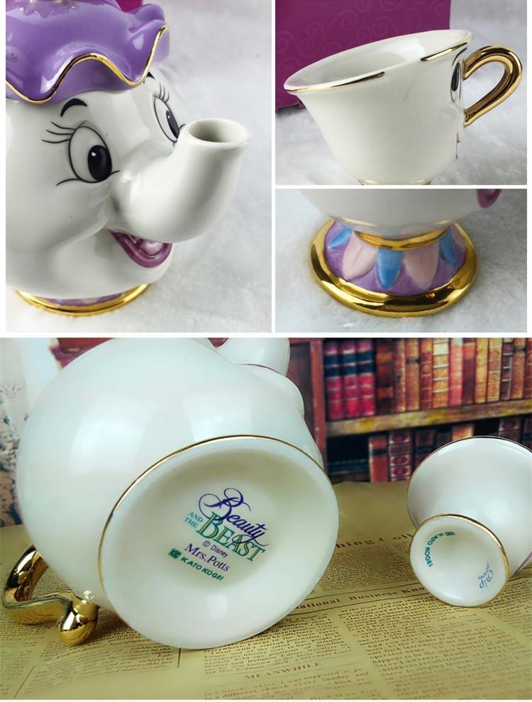 Beauty And The Beast Teapot Cartoon Mug Mrs Potts Chip Tea