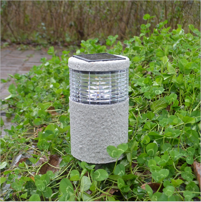 solar power led garden lamp wall light lawn landscape path outdoor
