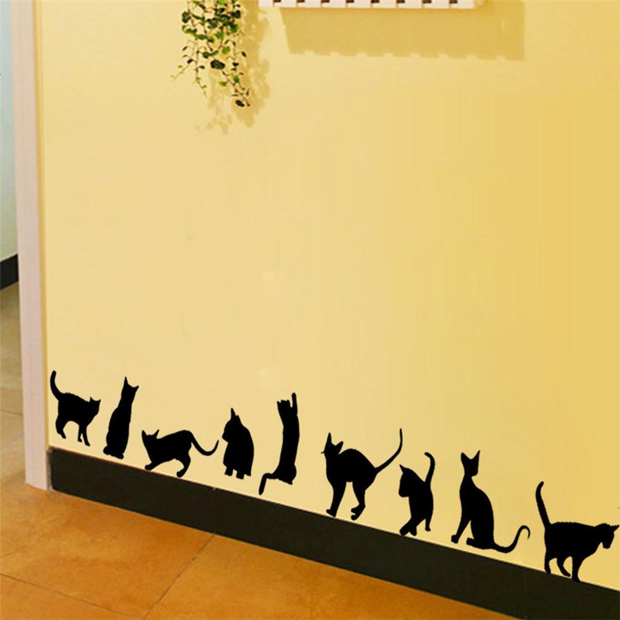 Cats Wall Stickers Vinyl Home Decal DIY Art Decor Kids