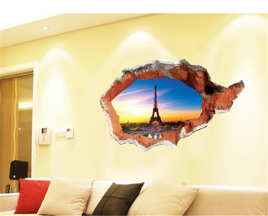 3d look wall vinyl sticker poster childrens bedroom living room mural ebay