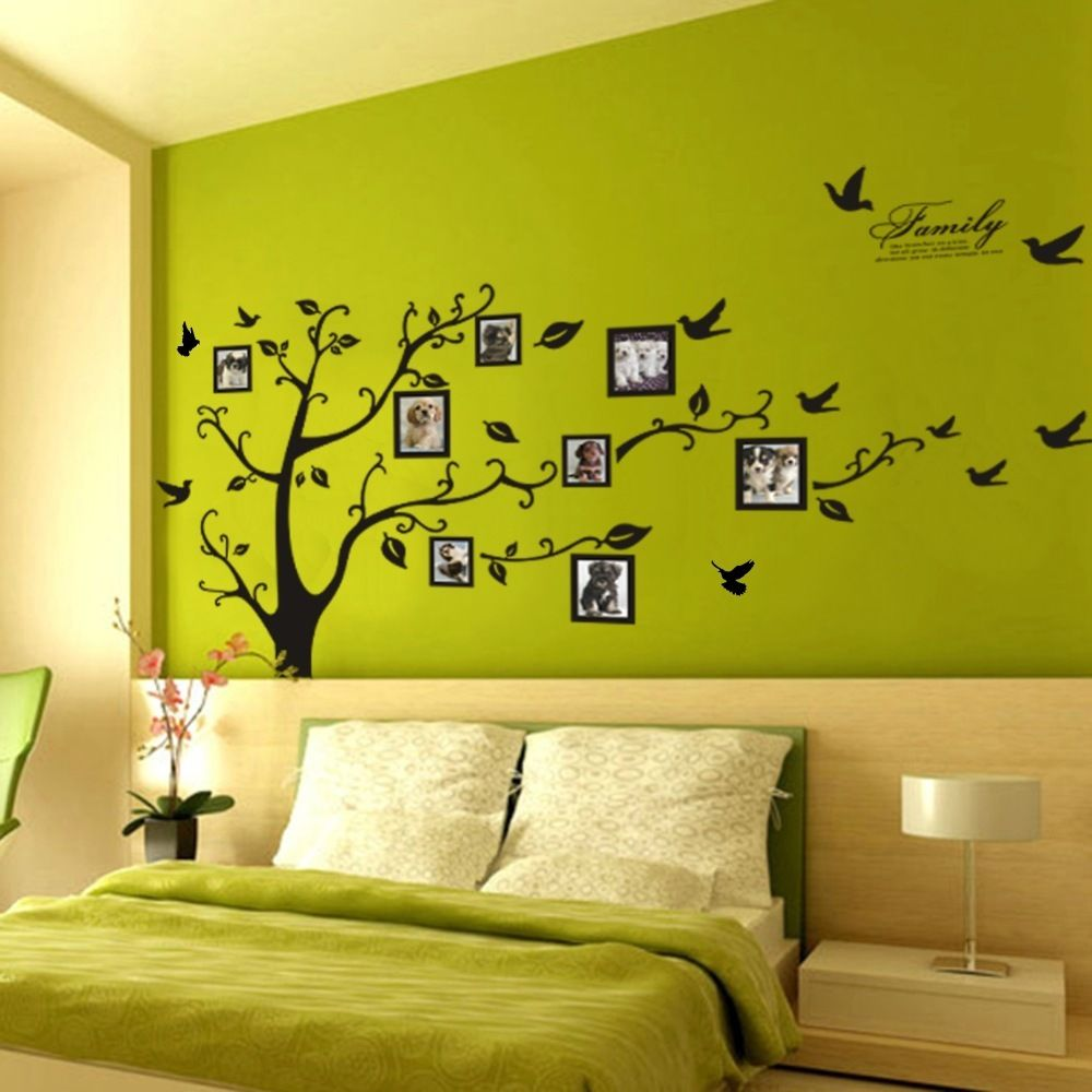 Wallpaper Picture Tree Large Black Memory Tree Home Decor 3D Wall ...