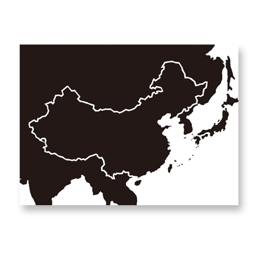 World map removable diy pvc vinyl art room wall sticker for Black and white world map mural