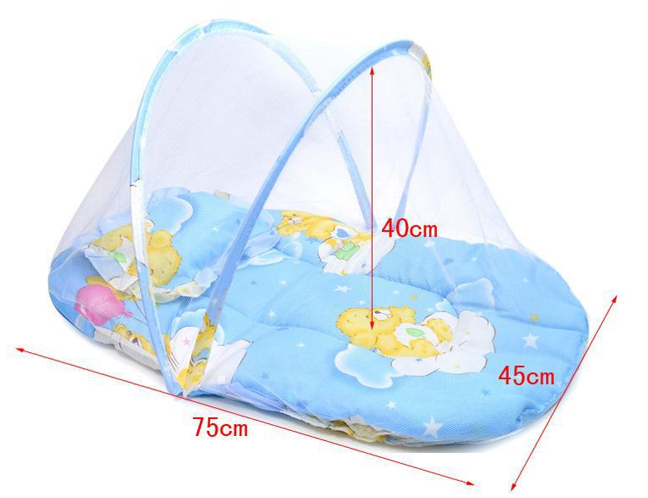 Small Portable Baby Bed Crib Folding Mosquito Net Infant Cushion ... for Folding Mosquito Net For Baby  599kxo