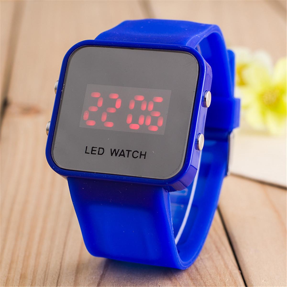 Fashion Mens Women's LED Digital Date Bracelet Rubber ...