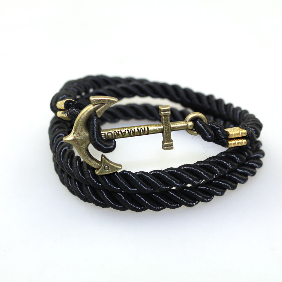 Fashion Multilayer Leather Handmade Rope Wristband Men's Women Bangle Bracelet
