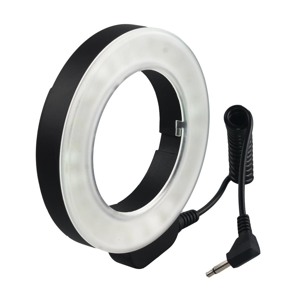Photo Light 48 LED Video Camera Macro Ring Light+6 Adaptor