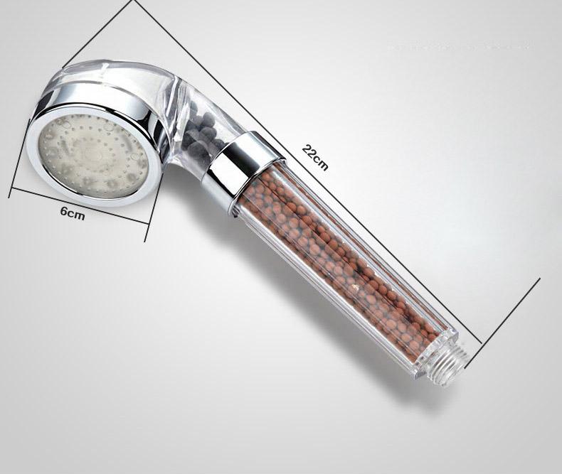 7 colour changing led light shower head large rainfall chrome bath heads filt. Black Bedroom Furniture Sets. Home Design Ideas
