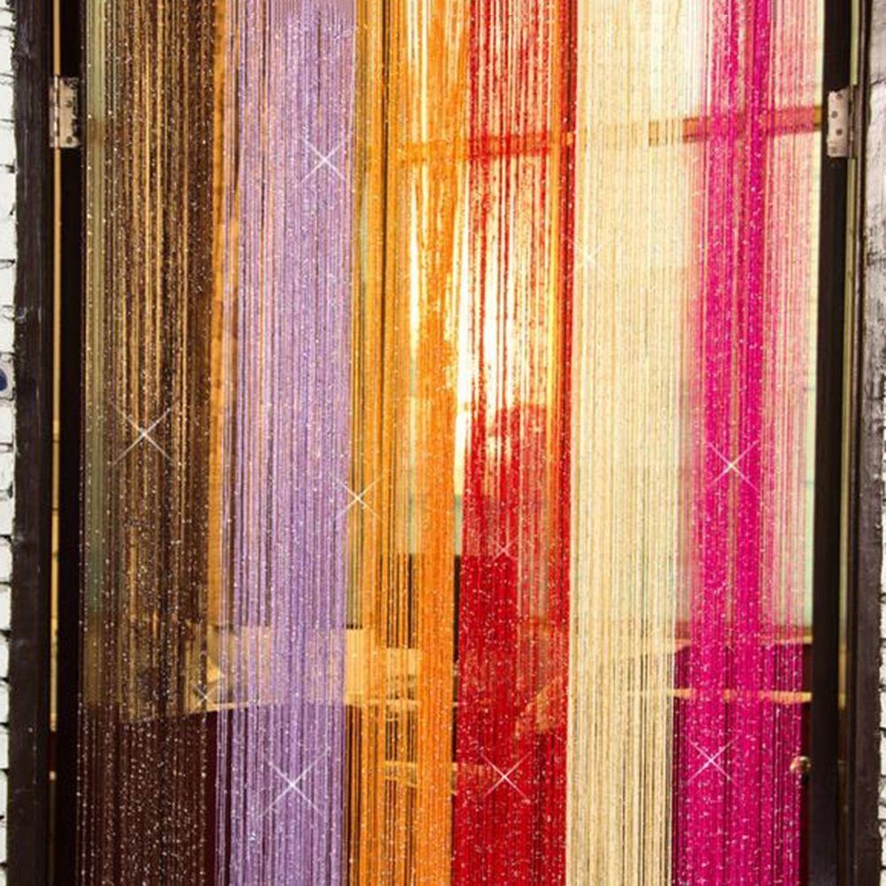 silver thread color mix string tassel curtain room divider panel 1mx2m elegant ebay. Black Bedroom Furniture Sets. Home Design Ideas