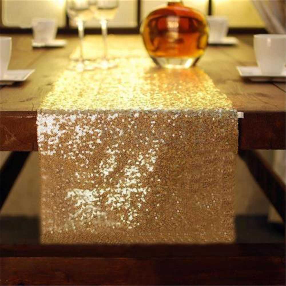 Gold Silver Champagne Glitter Table Runner Sparkly Wedding