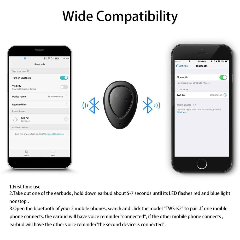 tws k2 wireless headsets manual