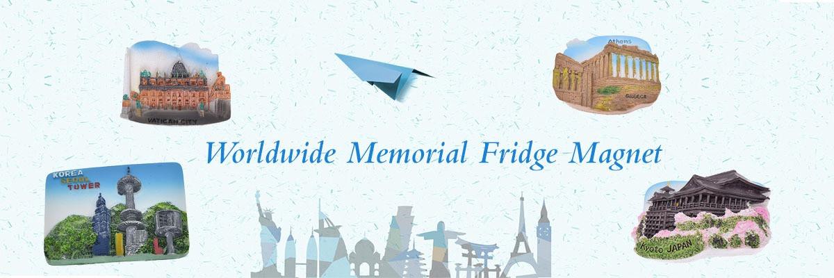 3D Funny Fridge Magnet Shanghai China Pavilion The Bund for Travel Souvenir Gift