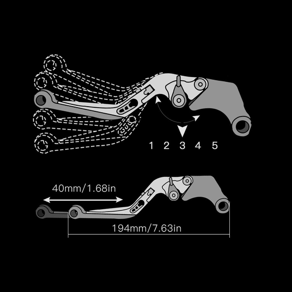2020 Honda Fit: 2019 2020 Motorbike Extendable Clutch Brake Levers Fit
