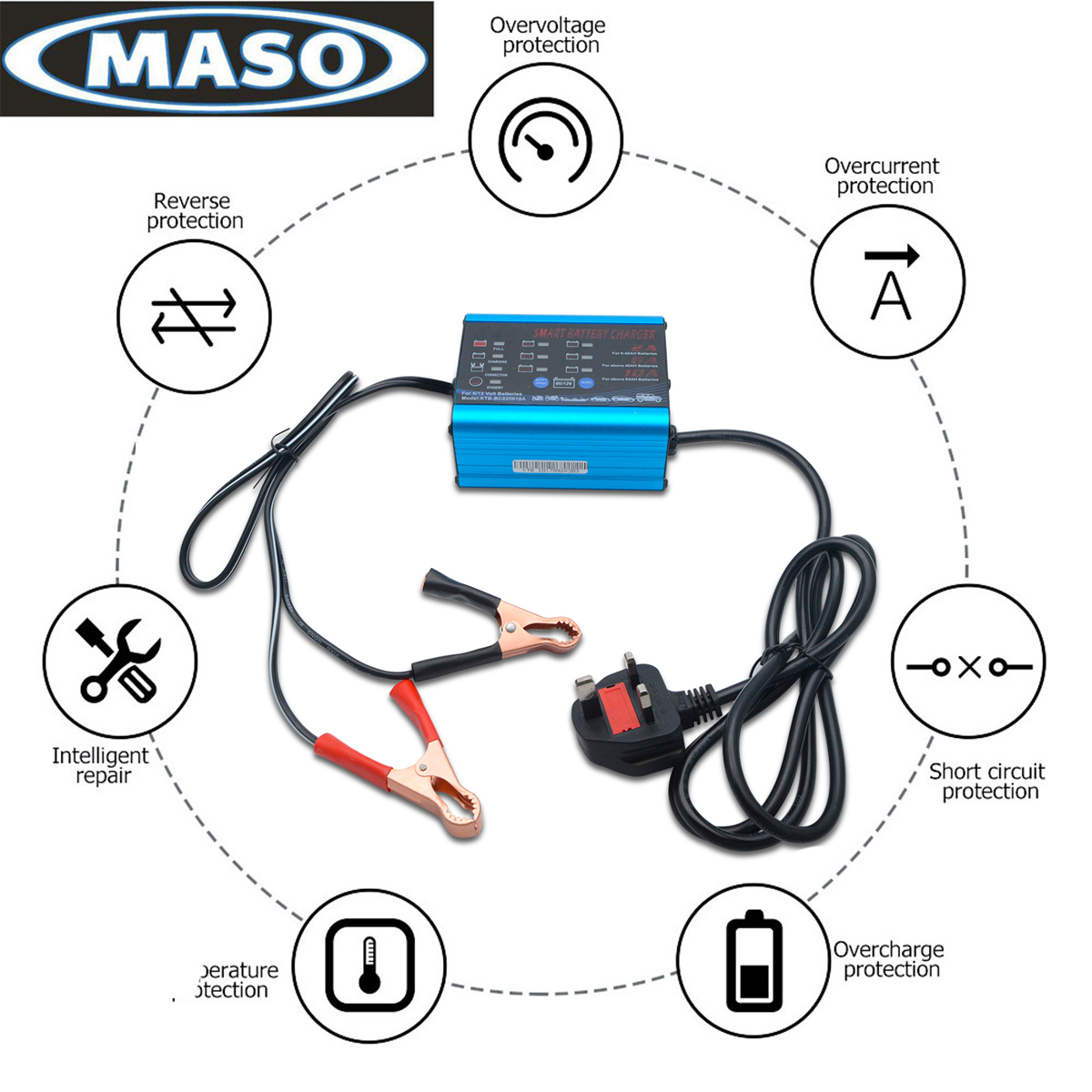 12 Volt 10a 12v 6v Automatic Intelligent Battery Charger Trickle Circuit Desulfator Kit With Auto Cut Off Fast Car Van 696395966825 Ebay