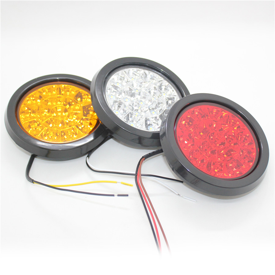 Back up Yellow 16 LED 24V 1PC 12V Lights Reverse Round Tail hQrxdBstC
