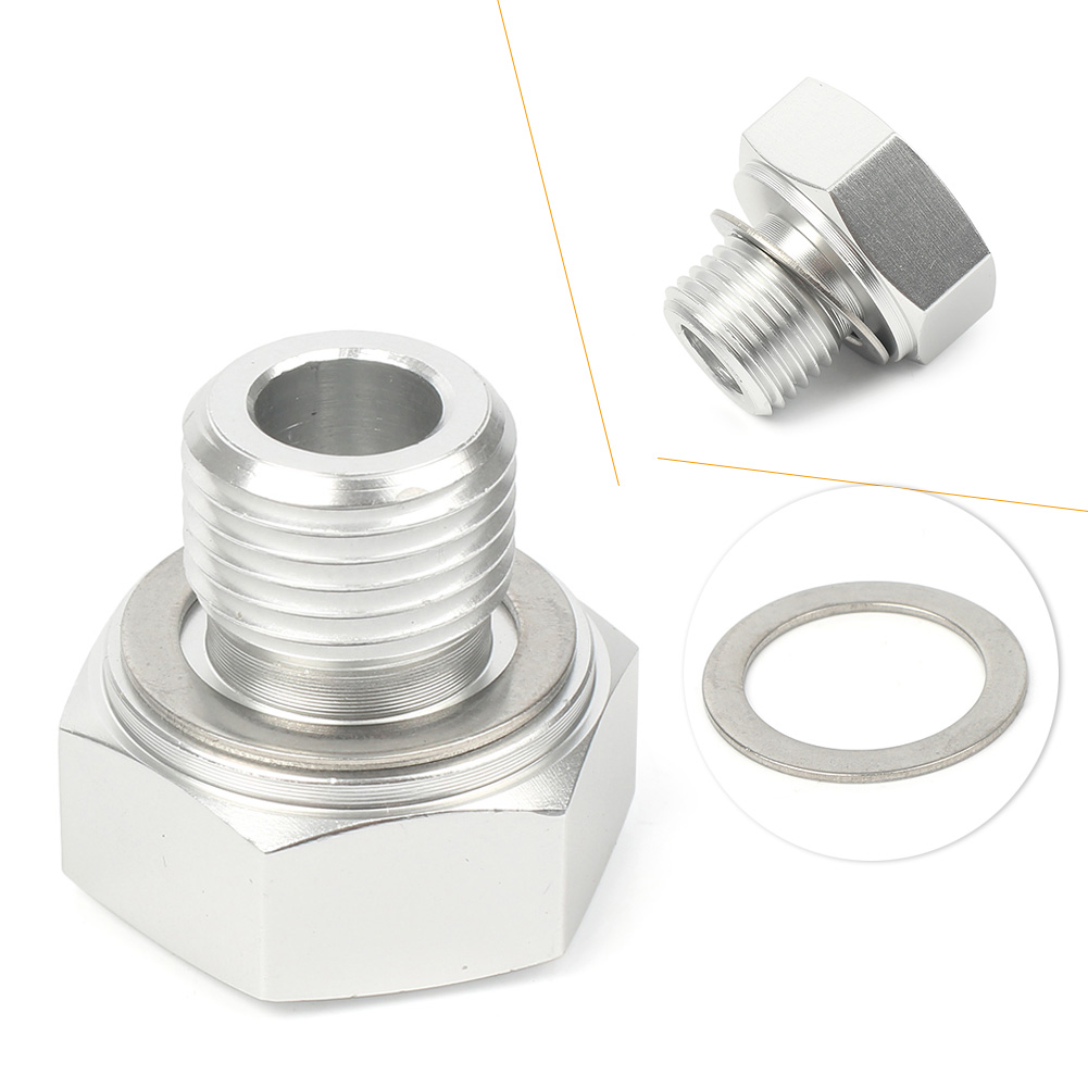 Details about 1x LS Oil Pressure Sensor Adapter M16X1/8 NPT Turbo Feed Port  Gauge Adapter cl