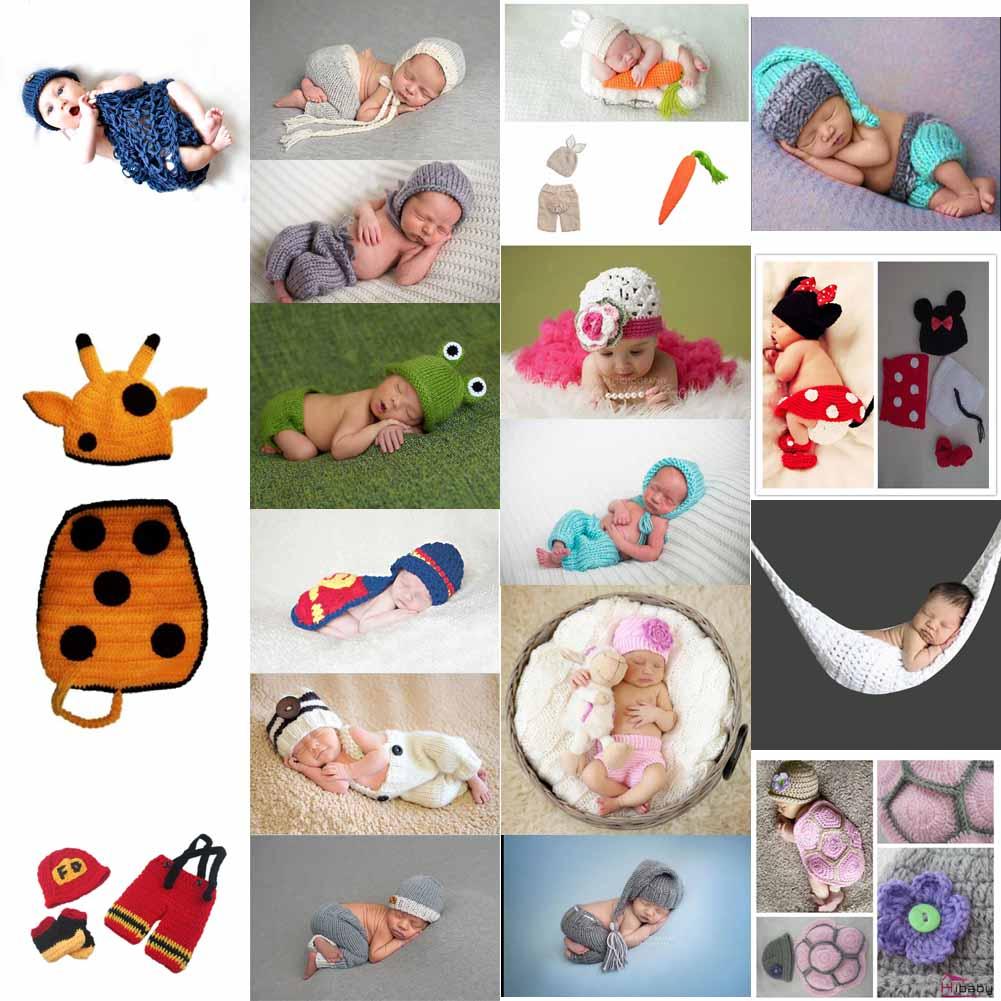 Fotoshooting Baby Fotografie Strick Kostüm Hut Hose Häkelkostüm Neugeborenen Set