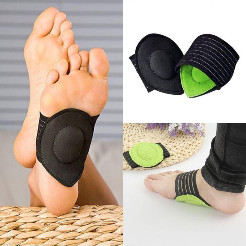 Women Orthotic Insoles Pads Heel Arch Support Plantar Massage Flat Feet Pad