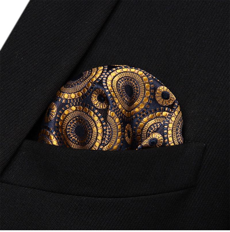 Navy Blue Men Silk Formal Pocket Square Hanky Wedding Party Handkerchief T13