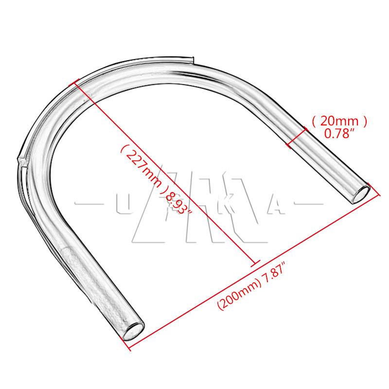 200mm flat cafe racer seat pad  frame hoop loop led turn