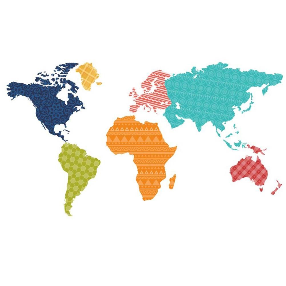 Colorful world map pvc wall decals removable living room home art colorful world map pvc wall decals removable living room home art stickers gumiabroncs Image collections