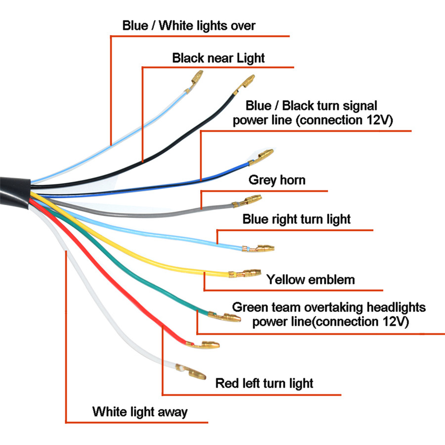 Basic Motorcycle Headlight Wiring Diagram from img1.tongtool.com