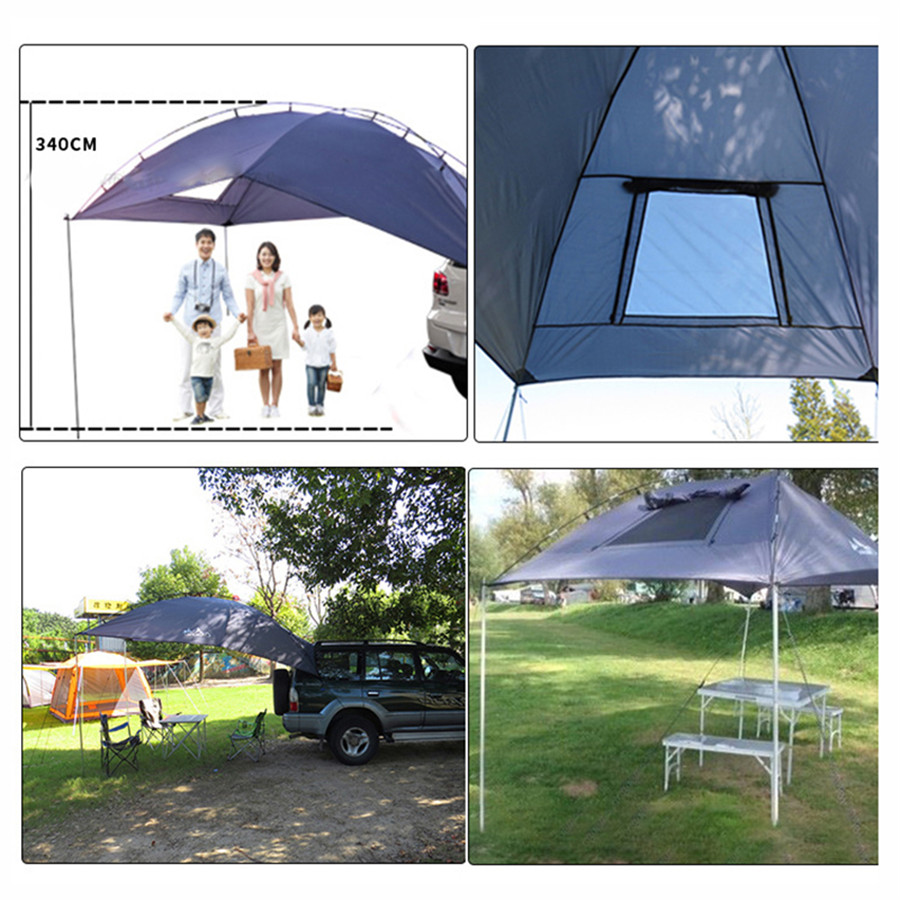 Sun Shade Shelter Umbrella Car Roof Tail Tent Camper RV ...