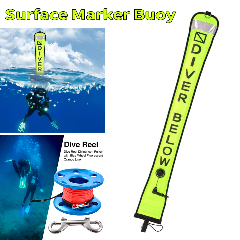Scuba Diving SMB Surface Marker Buoy Signal Tube /& Dive Reel Spool Water Sport