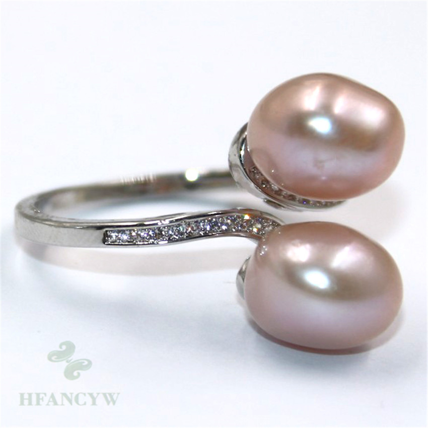 13-14mm Natural Pink Baroque Pearl ring Adjustable 18k Gift Cultured Hand-made