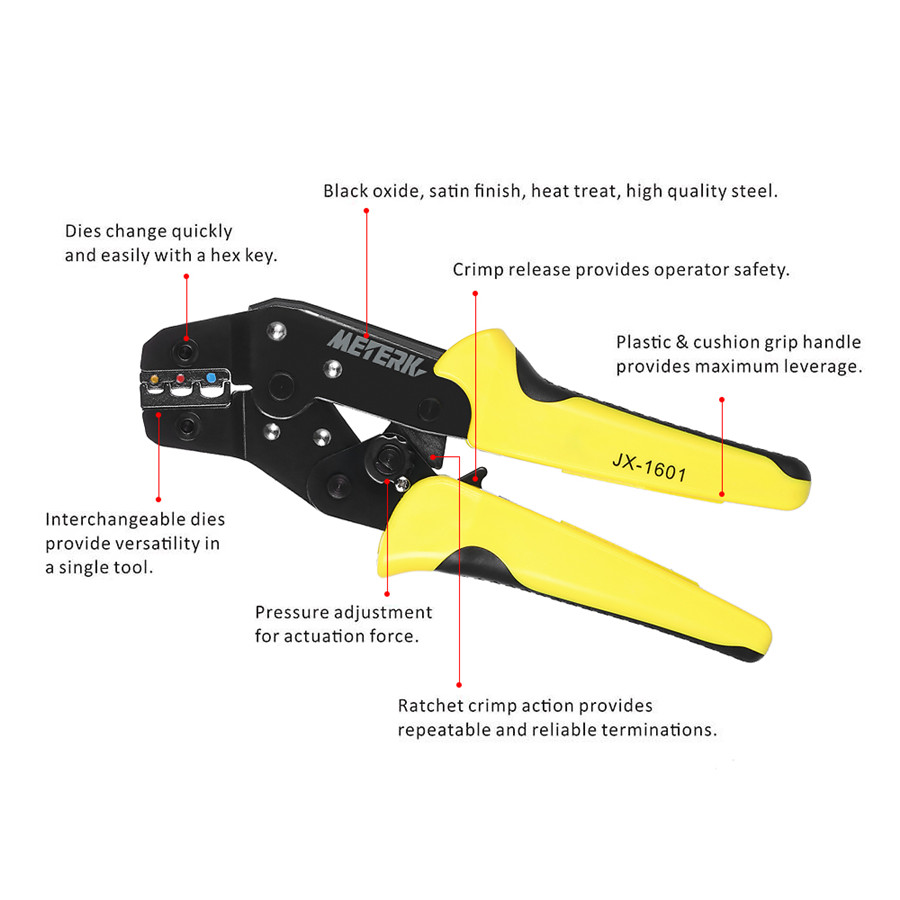 Portable 4in1 Wire Crimper Pliers Ratcheting Terminal Crimping Tool 2004 Jeep Wiring Connector Crimp 4 In 1 Tools Kit Multitool Engineering Ratchet Plier Screwdriver End Terminals