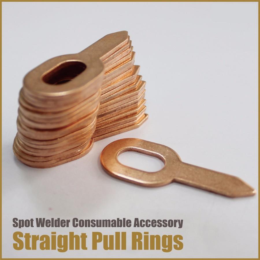 50x Straight Dent Pulling Ring For Car Stud Body Spot Welder Panel Puller Washer
