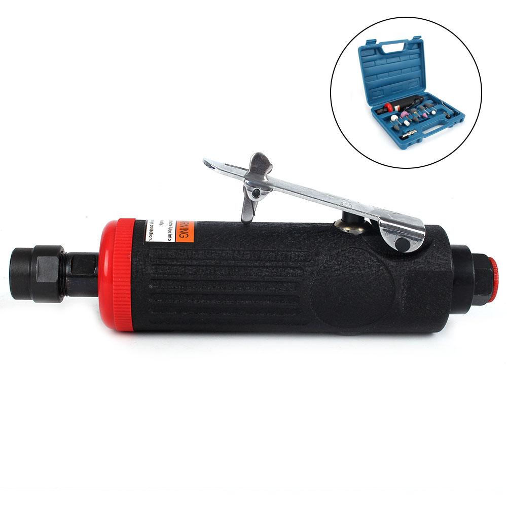 Mini Metal Pneumatic Sander Machine Polishing Grinder Die Air Tool Grinding Mill Tool Set for Polishing Grinding Pneumatic Sander