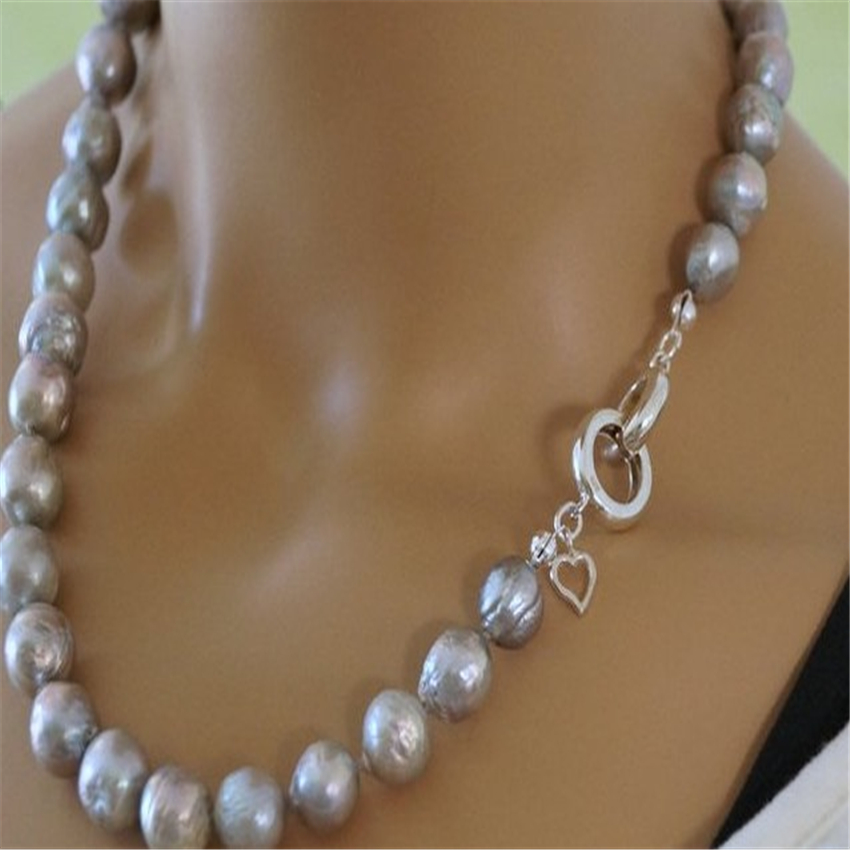 """NEW 10-16mm SOUTH SEA WHITE BAROQUE PEARL NECKLACE 18/"""""""