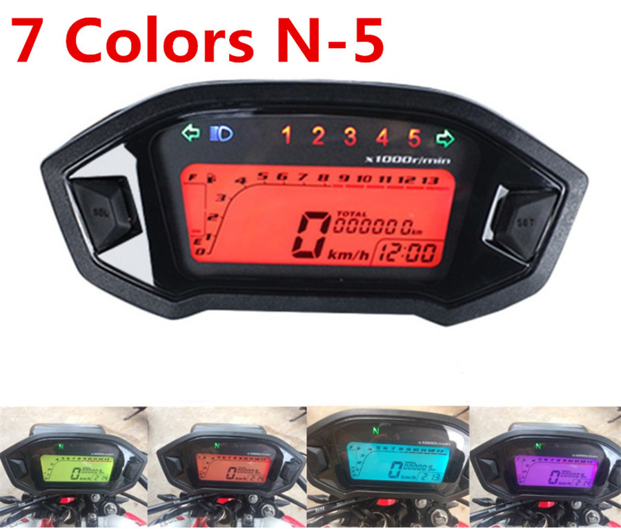 futurepost.co.nz Universal Motorcycle Digital Colorful LCD ...