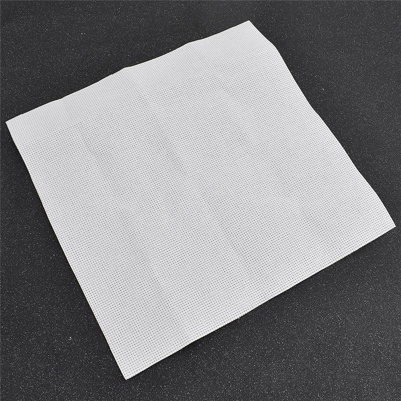 DIY Kreuzstich Tuch Stoff Sticken Zählstoff 14ct Weiß Bestickt Neu Nähen 25x25cm