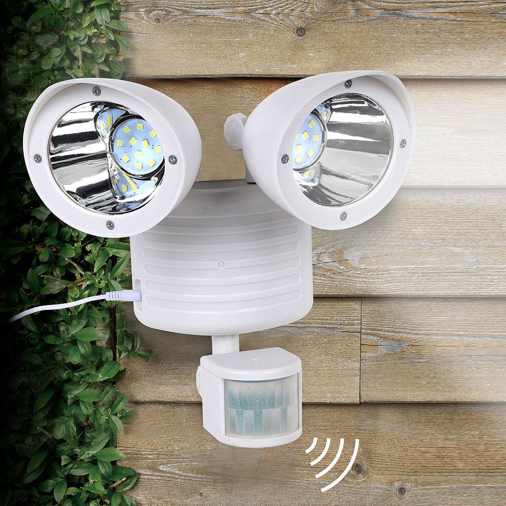 Dual Security Solar Spot Light Motion Sensor Outdoor 22LED