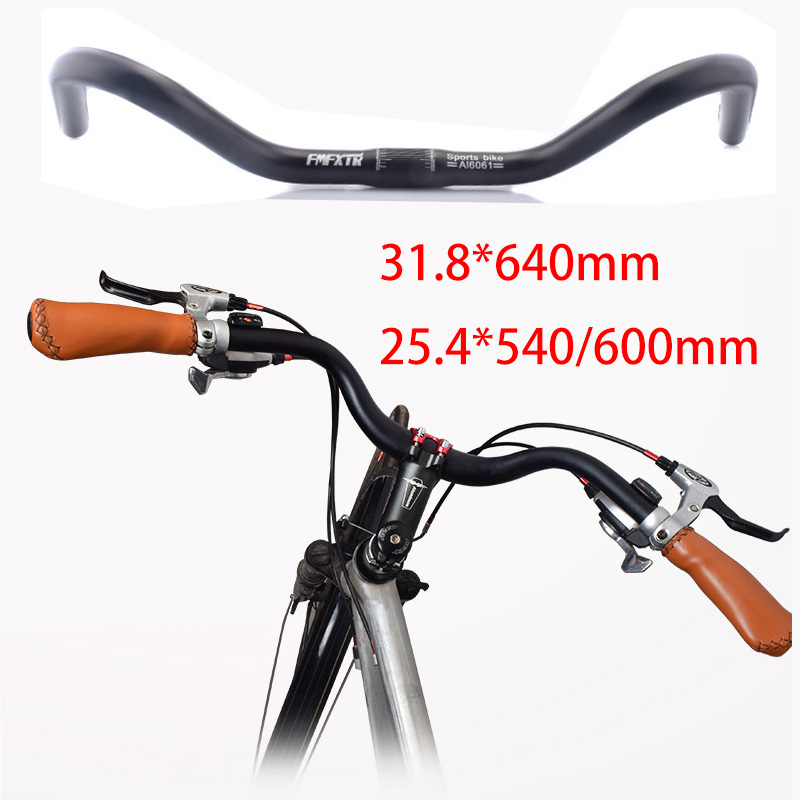 Retro Cruiser Urban Bike Handlebar Bicycle Riser Bar 25.4*540//600mm 31.8*640mm