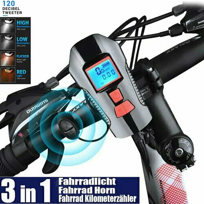 USB Rechargeable Bike Bicycle LED Light Headlight Taillight Front /& Rear Set UK