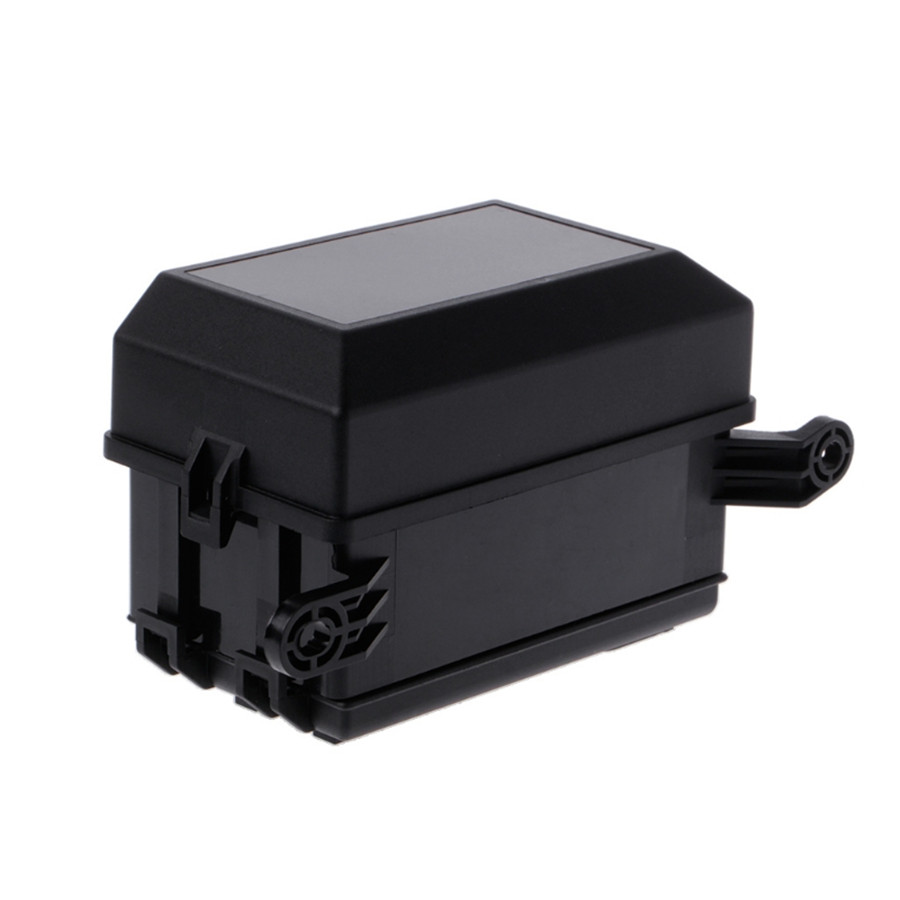 Product Name:Fuse Box Material:Plastic+Metal Color:Black  Size:73mmx123mmx94mm. Interchange Part Number:Automotive Fuse Box Relay  Holder 6 Relay 5 Road