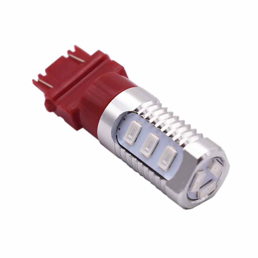 2X 3157 Red LED Flash Strobe Blinking Bulbs for Car Brake