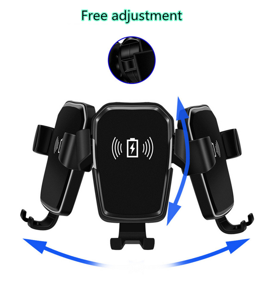 einstellbare auto qi induktive ladestation halterung f r iphone xs x xr 8 plus ebay. Black Bedroom Furniture Sets. Home Design Ideas