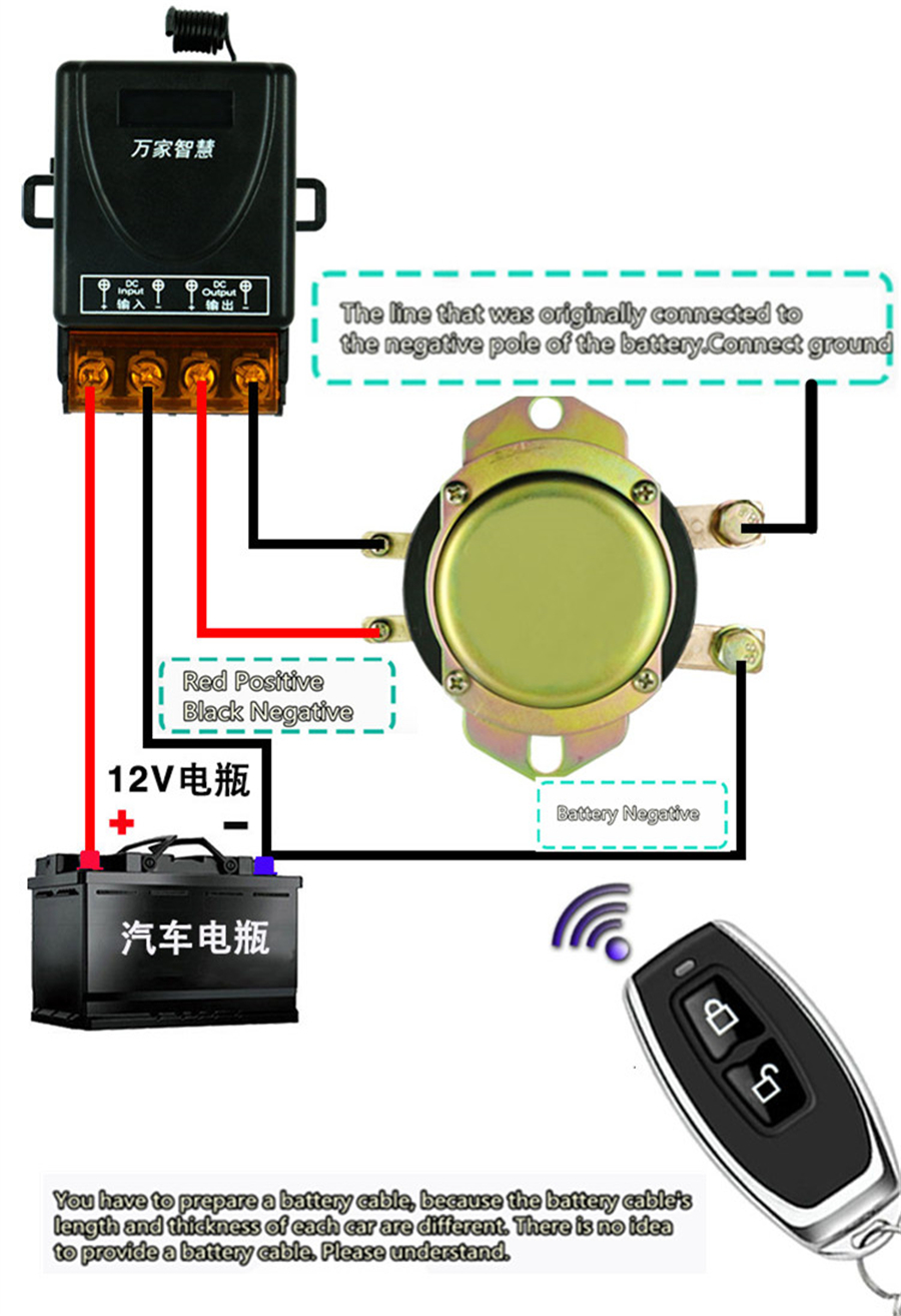 Car Auto Remote Control Battery Switch Disconnect Anti