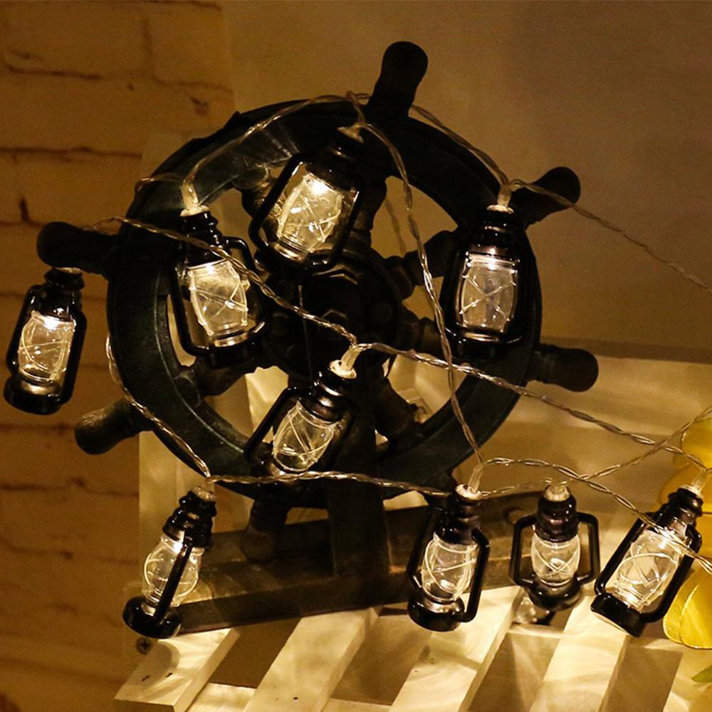 1.6M 10LED Kerosene String Lights Mini Lantern for Outdoor Indoor Garden Home