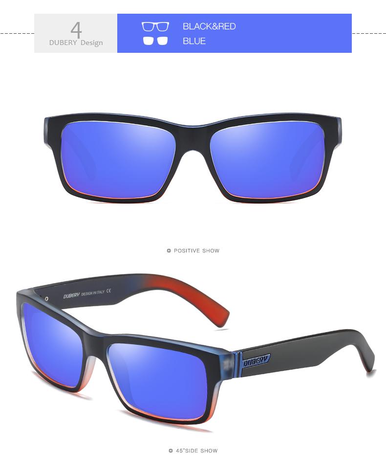 DUBERY Men Women Vintage Polarized Sunglasses Driving Outdoor Eyewear Fishing TY