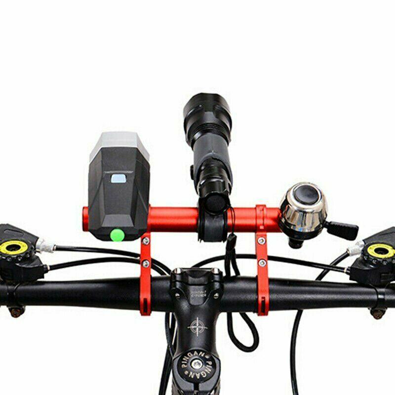 Bike Flashlight Handlebar Bicycle MTB Holder Bar Cycling Extender Mount Bracket