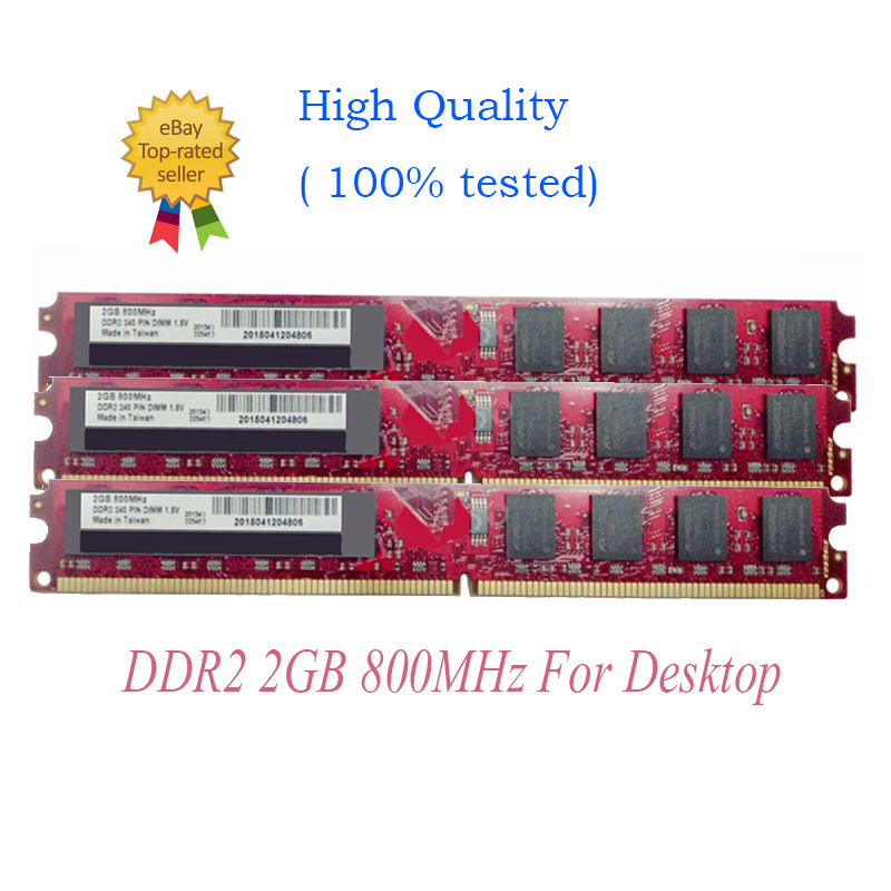 DDR2-800MHz Desktop Memory PC2-6400 240pin DIMM FOR New Kingbox 40GB 20 X 2GB