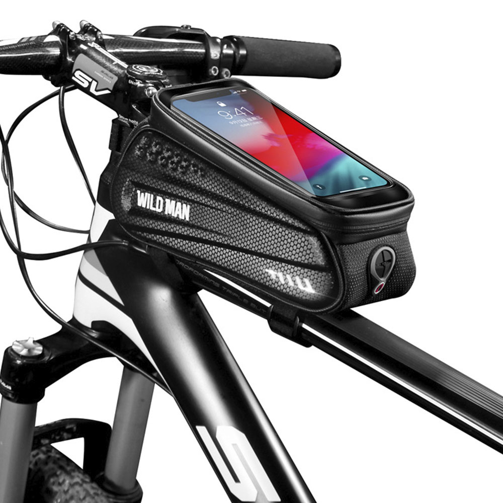 Waterproof Mountain Bike Frame Front Bag Pannier Bicycle Mobile Phone Hold New