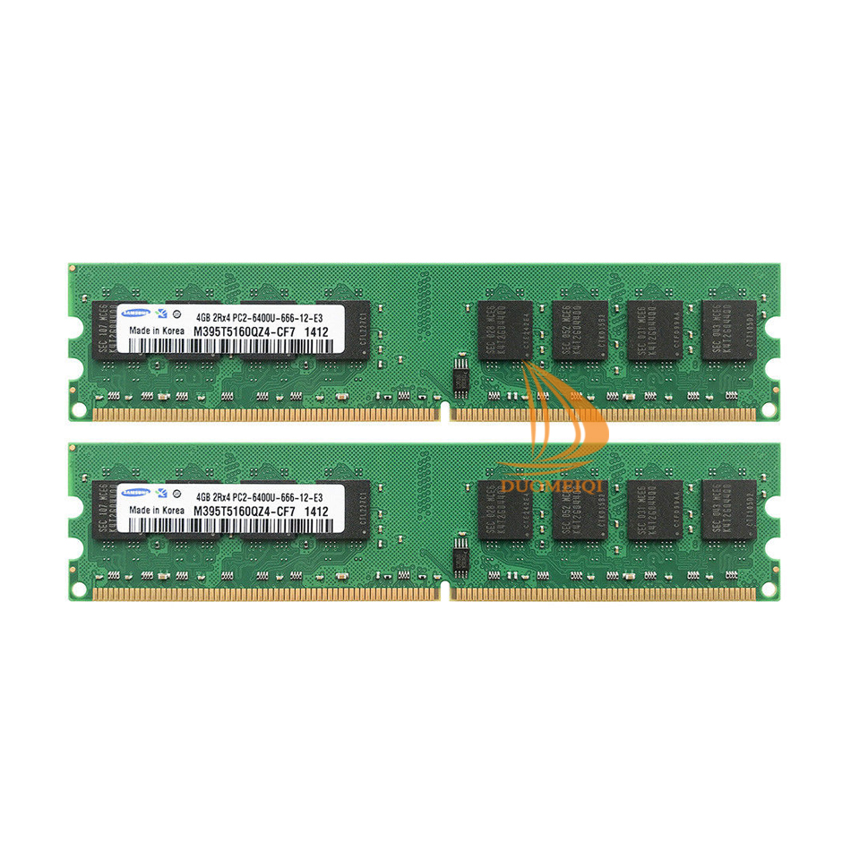 PC2 6400U DDR2 800MHz 1x 2GB LO Dimm Computer PC Desktop Memoria RAM Samsung Hynix Micron 2GB